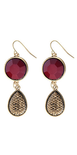 earrings made in colombia semi-precious stones