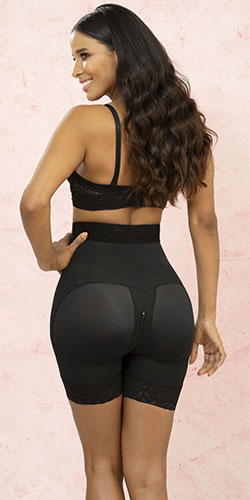 Black butt lifting black girdle
