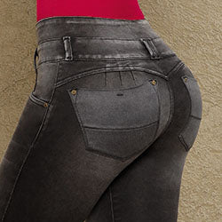 Butt lift dark wash jeans