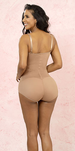 One piece butt lift waist cincher girdle