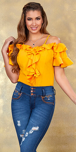 yellow blouse for any occasion