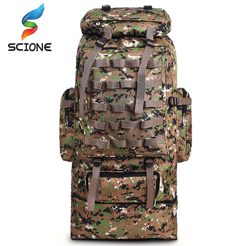 100L Large Capacity Tactical Bag Adjustable Backpack