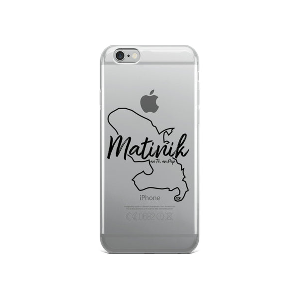 Coque Iphone Contour Carte Matinik