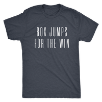 Exercise Box Jump for the win t-shirt  Next level unisex t-shirt Color Vintage Navy
