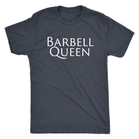 Exercise Barbell Queen T-shirt Unisex Vintage Navy