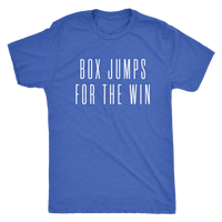 Exercise t-shirt  Box Jump for the win Next level unisex t-shirt Color Vintage Royal Blue