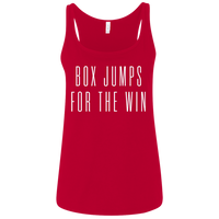 Exercise t-shirt Box Jump for the win women tank top Color Red