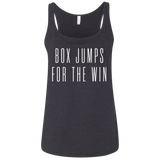 Exercise t-shirt Box Jump for the win women tank top Color Dark Heather Grey
