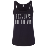 Exercise Box Jump for the win t-shirt women tank top Color Black