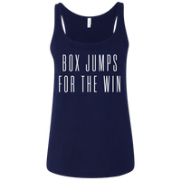 Exercise t-shirt Box Jump for the win women tank top Color Navy