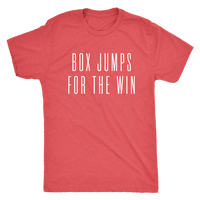 Exercise t-shirt  Box Jump for the win Next level unisex t-shirt Color Vintage Red