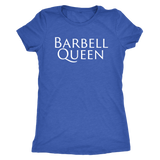 Exercise Barbell Queen T-shirt Women's triblend Vintage Royal Blue