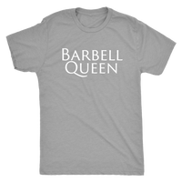 Exercise Barbell Queen T-shirt Unisex Premium Heather Grey