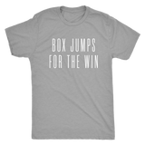 Exercise t-shirt  Box Jump for the win Next level unisex t-shirt Color Premium Grey