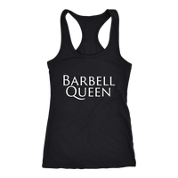 Exercise Barbell Queen Racerback tank Black