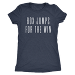 Exercise t-shirt Box Jump for the win Next level women t-shirt Color Vintage Navy