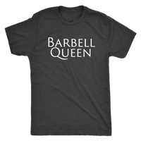 Exercise Barbell Queen T-shirt Unisex Vintage Black