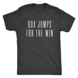 Exercise t-shirt  Box Jump for the win Next level unisex t-shirt Color Vintage Black