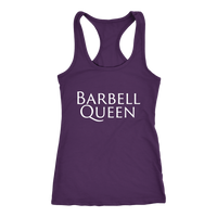 Exercise Barbell Queen Racerback tank Purple