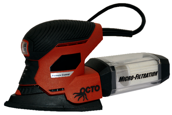 Detail Mouse Sander used for heavy or stubborn build up on plate surfaces. Best used in a circular motion with the Large Green Pads or Brown Grill Pads.