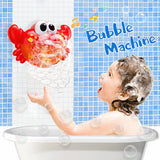 Crab Bubble Maker with music sound makes it easier to bathe your baby.