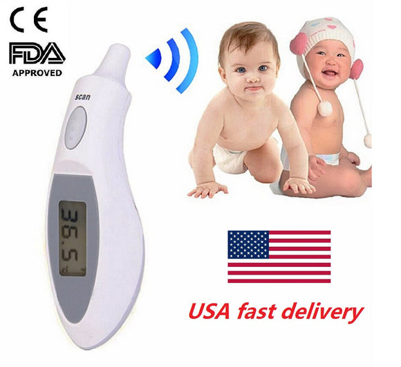 Ear Thermometer Electronic LCD Thermometer Contact Infrared Thermometer for Baby Kids