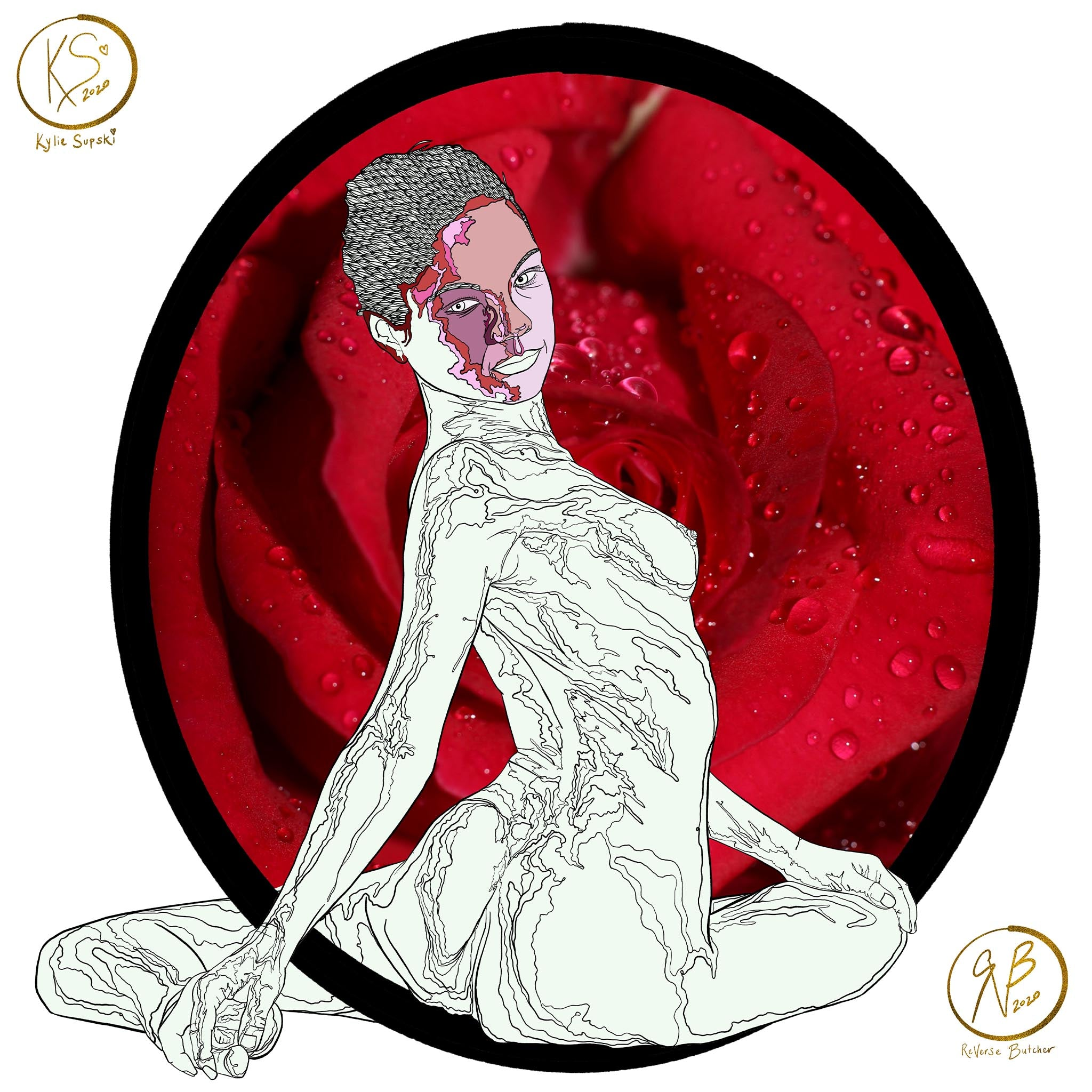 Circle Series: Feminine with Rose Tunnel | ReVerse Butcher & Kylie Supski | WIP 02