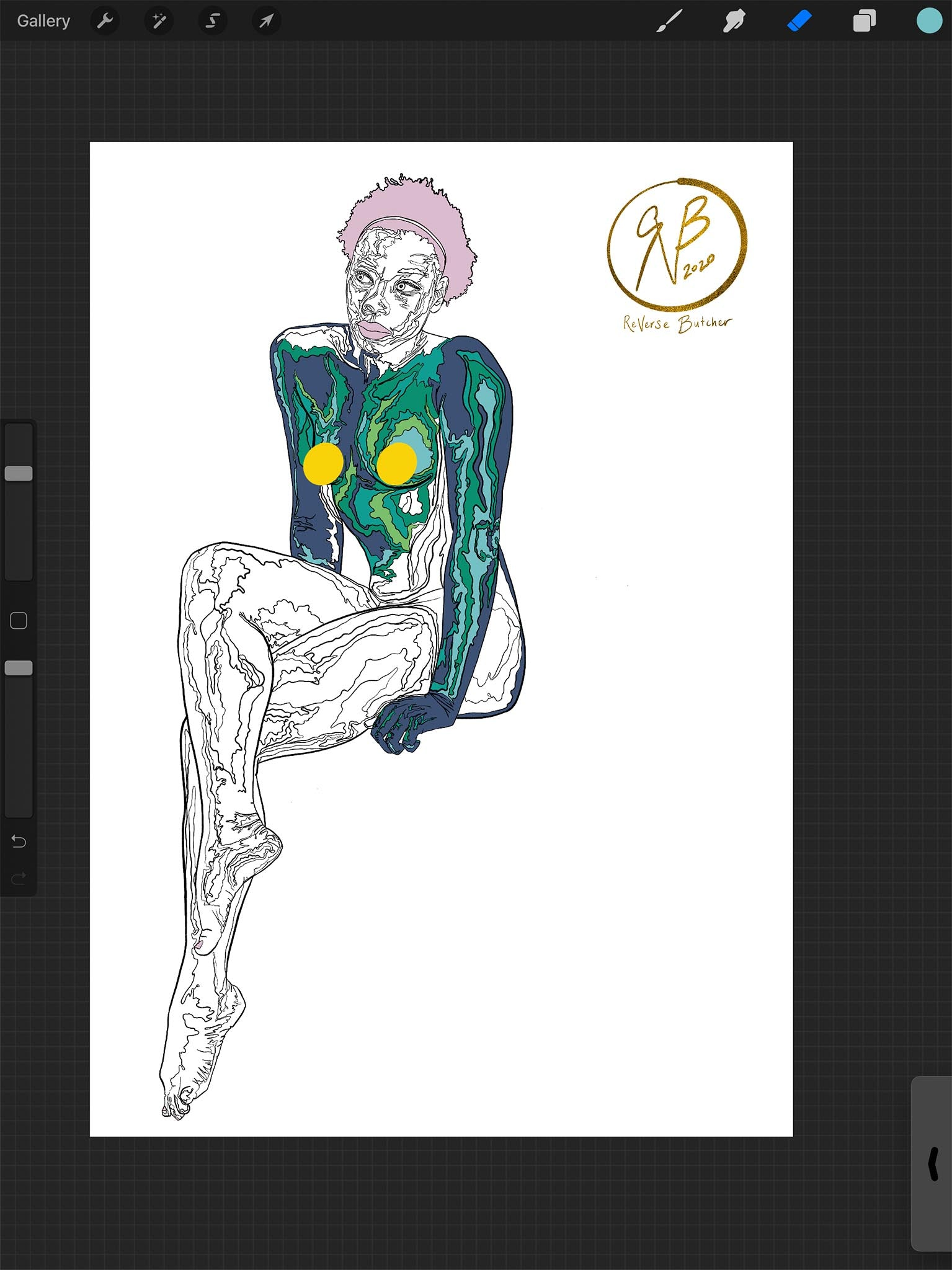 Circle Series: Feminine with Zooming Paths   ReVerse Butcher   WIP #1