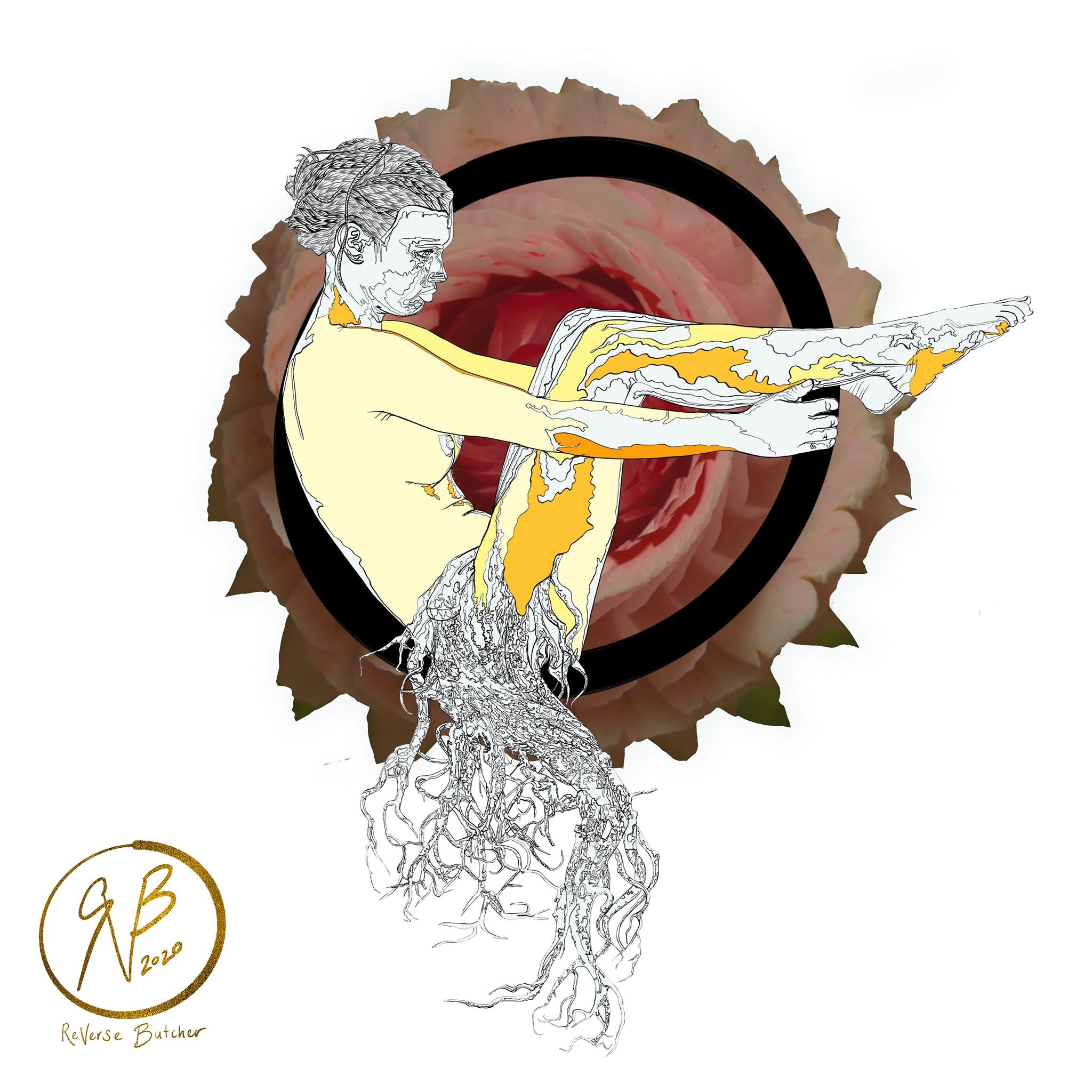 Circle Series: Woman with Tree Roots | ReVerse Butcher