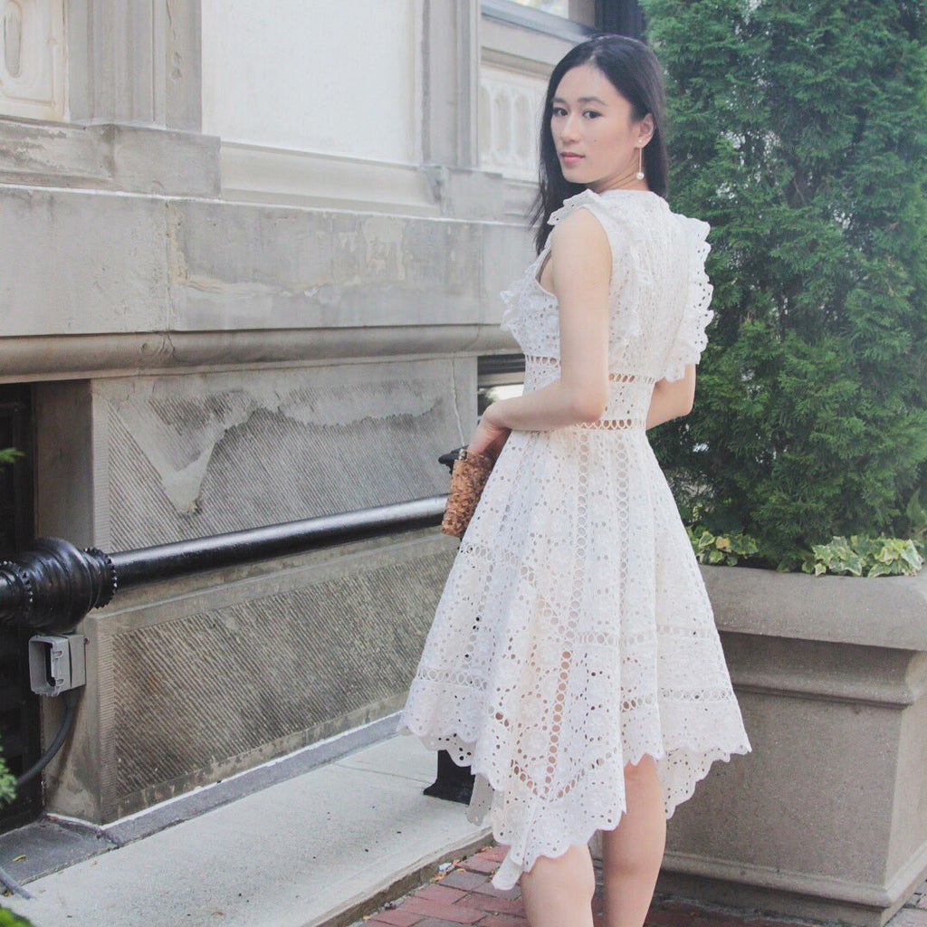 TEST - White Lace Dress