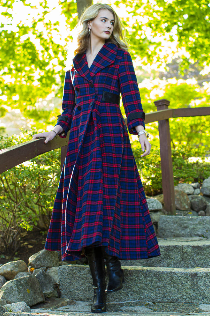 Full Length Plaid Coat