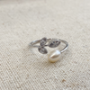 Leaves & Pearl Ring