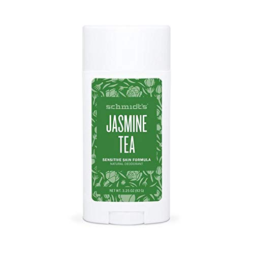Schmidt's Natural Deodorant for Sensitive Skin, Jasmine Tea, Stick for Women and Men, 3.25 Ounce