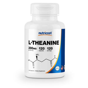 Nutricost L-Theanine 200mg, 120 Capsules - Double Strength