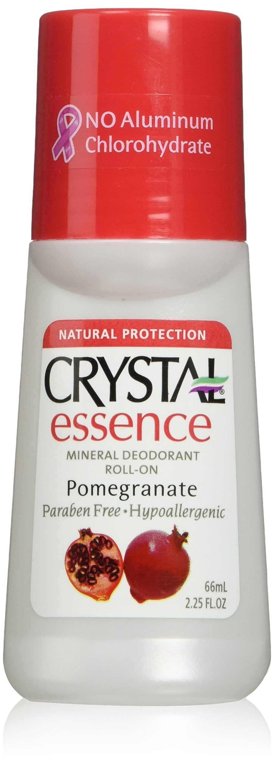 Crystal Deodorant Essence Roll -On Pomegranate 2.25 oz. (3-Pack)