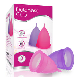 Dutchess Menstrual Authentic Original Cups Set of 2 with Free Bags - Small (B) - No 1 Economical Feminine Alternative Protection for Cloth Sanitary Napkins for Menstruation