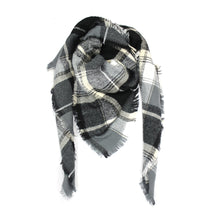 Camel & Red Plaid Blanket Scarf