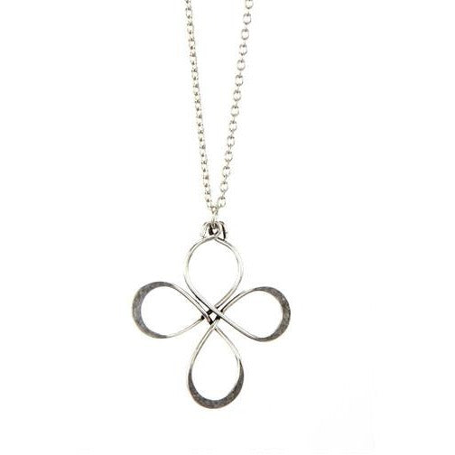 4 Loop Silver Necklace
