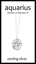 Aquarius Zodiac Constellation Necklace