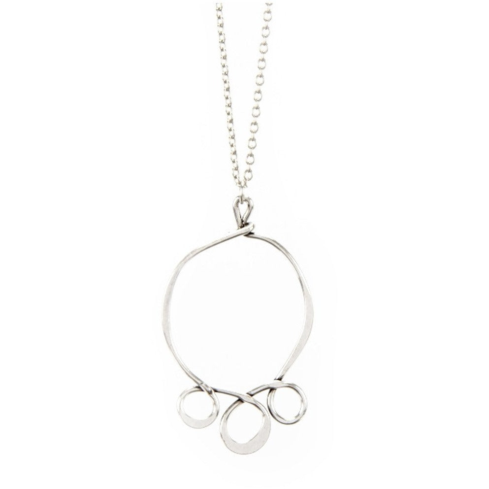 3 Loop Circle Round Necklace