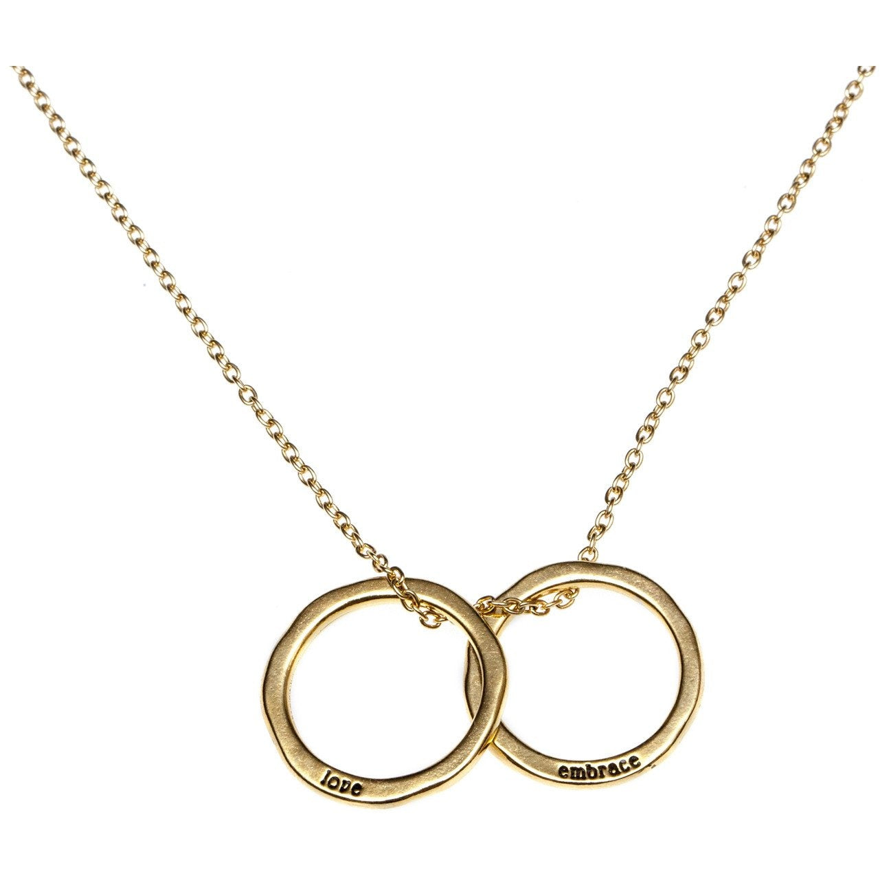 Love and Embrace Circle Necklace