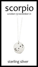 Scorpio Zodiac Costellation Necklace