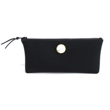 Nylon Cosmetic Pouch With Semi Precious Stone