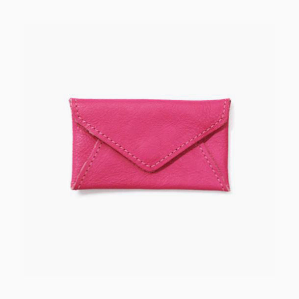 Fuschia Envelope Credit Card Wallet