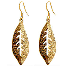 Curved Leaf Earrings