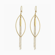 Marquise Chain Drop Earrings