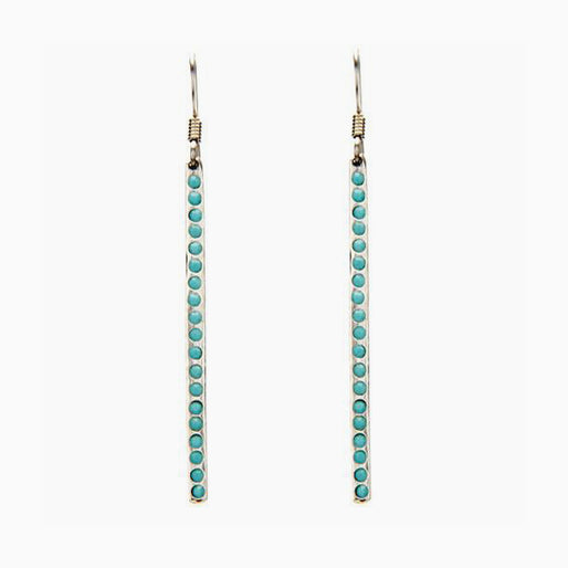 Vertical Turquoise Earrings