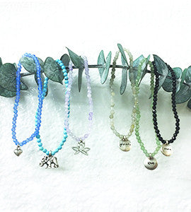 Semi Precious Empowering and Inspirational Stretch Bracelets