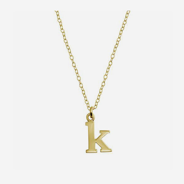 Tiny Lower Case Initial Necklace