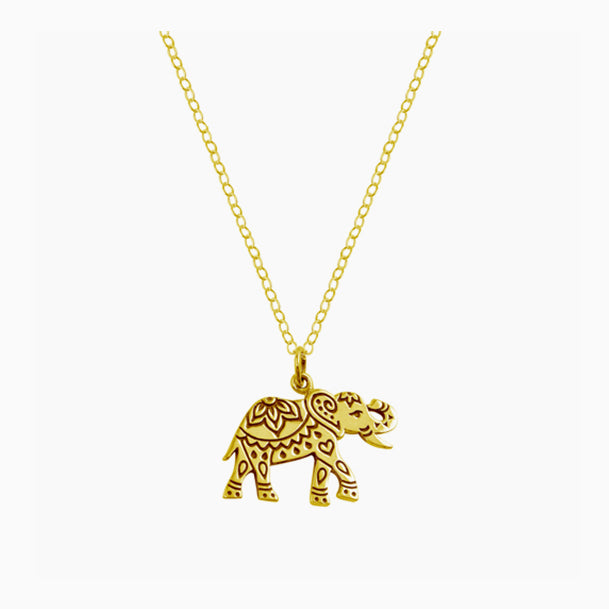 Engraved Elephant Necklace